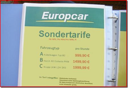 Europcar Sondertarife
