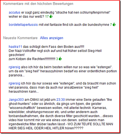 """Kommentare zur """"Heil Hitler""""-Paranoia von HC Strache"""