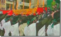 Hamas-Anhänger mit Hitlergruß
